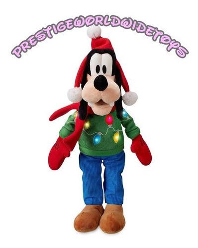 Disney Store Peluche Goofy Edición Especial Navidad Luz Led!