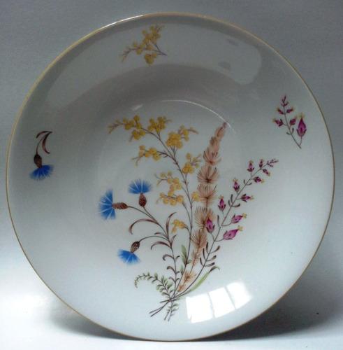 Plato Hondo Porcelana Bavaria Alemana Ramillete