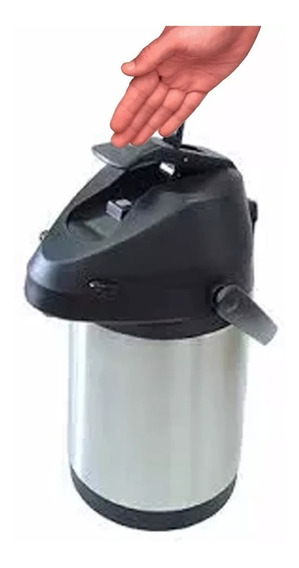 Garrafa Térmica Com Alavanca Aço Inox Inquebrável 2,2lts