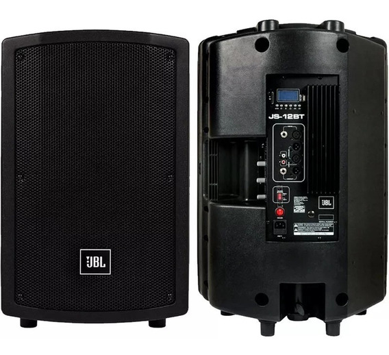 Caixa Ativa Jbl Js12 150w Bluetooth Usb Sd Js12bt Nova Js121