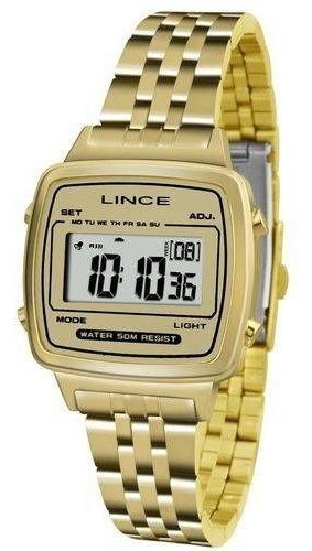 Relógio Lince Digital Sdph041lbckx Dourado Original
