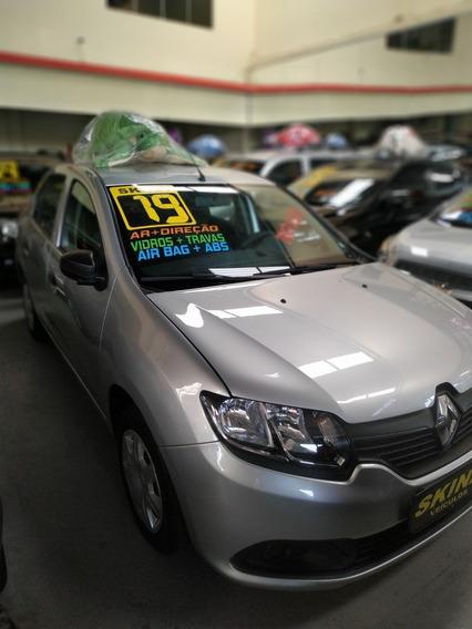 Renault Logan 1.0 Flex Aut. 2019 Prata Completo/25.000kms