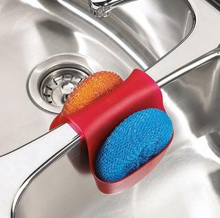 Porta Esponja De Silicona Para Bacha Doble Sink Caddy