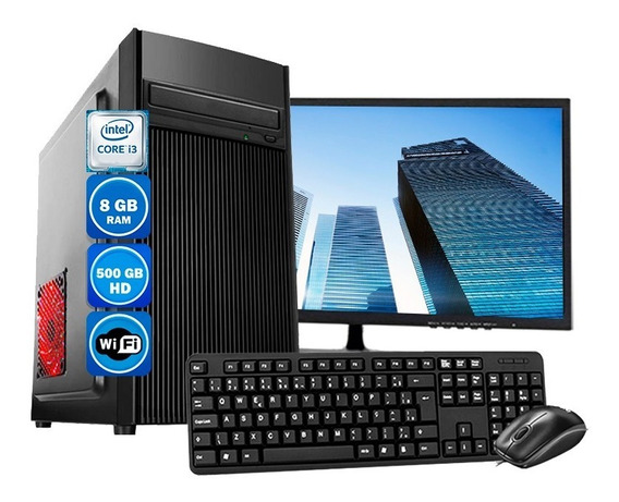 Computador Pc Completo Intel 8gb Hd 500gb Monitor 23 Wind 10