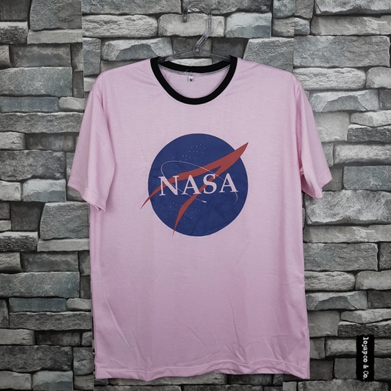 Camiseta Nasa Logo Geek Nerd Tumblr Camisa Blusa
