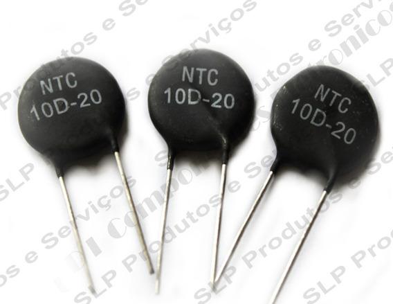 25pç Varisto Ntc10d-20 10d-20 Ntc Resistor 10r 20 Mm Térmic