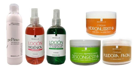 Kit Facial Cutis Seco Cosmetología Rostro Piel Biobellus