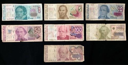 Lote Billetes Argentinos - Estado Regular
