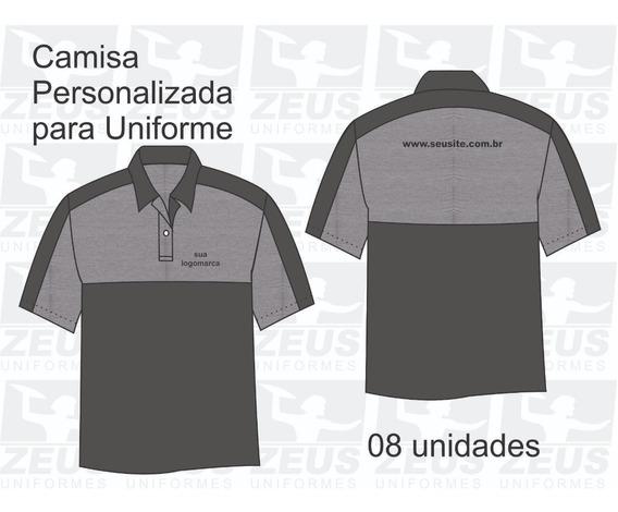 08 Camisas Polo Personalizadas - Bordado Logomarca E Site