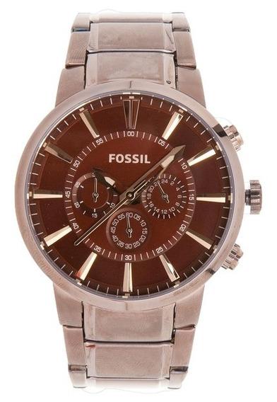 Relógio Fossil Masculino Ffs4357z Marrom Loja Oficial Clocke