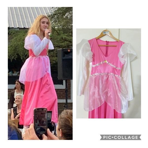 Vestido De Fiesta 15años Princesa Impecable M