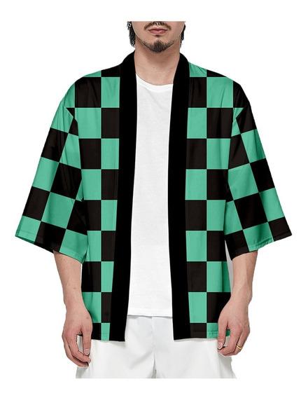 Demon Slayer Camiseta Kimono Kimetsu No Yaiba Cosplay Saco