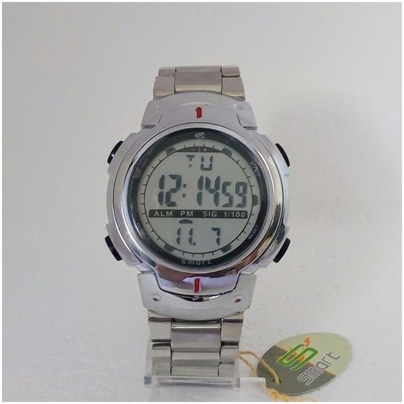 Relógio Masculino Smart Digital Original Inox Prova Dágua