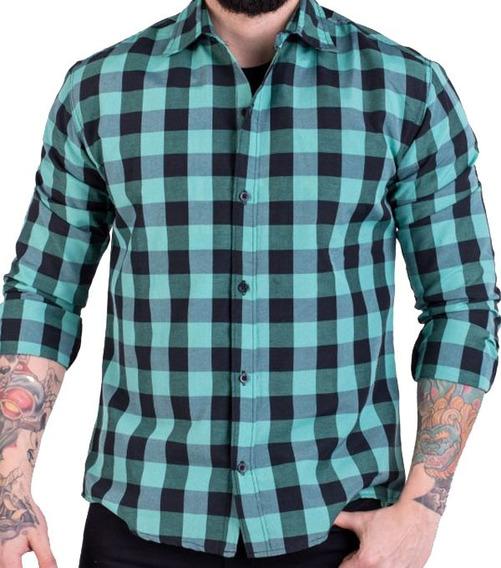 Camisa Leñadora De Hombre Camisa A Cuadros Escocesa