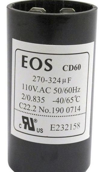 Capacitor De Partida Cd60 270/324 1/2 110v Eos D1991