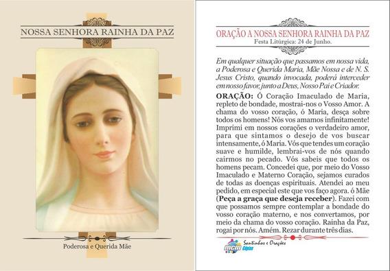 Nossa Senhora Rainha Da Paz (500 Santinhos) Frete Grátis