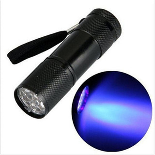 Lanterna Ultravioleta Luz Negra Uv 9 Led Nota Falsa