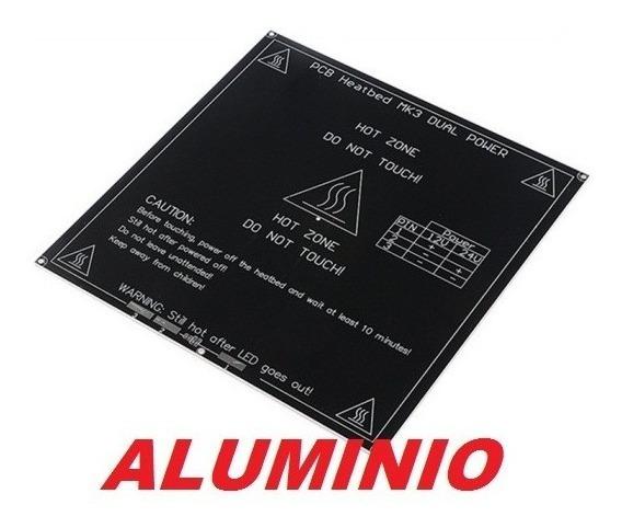 Mk3 Em Aluminio 214x214mm Resistencia 12v E 24v Dual Power
