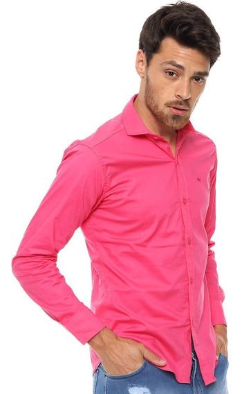 Envio Gratis Camisa Entallada Hombre Elastizada Slim Fit