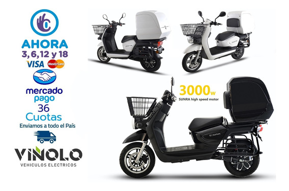 Moto Eléctrica De Litio Para Delivery Sunra Cagoo Viñolo /e