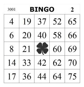Arquivo De Impressão - 1500 Cartelas De Bingo
