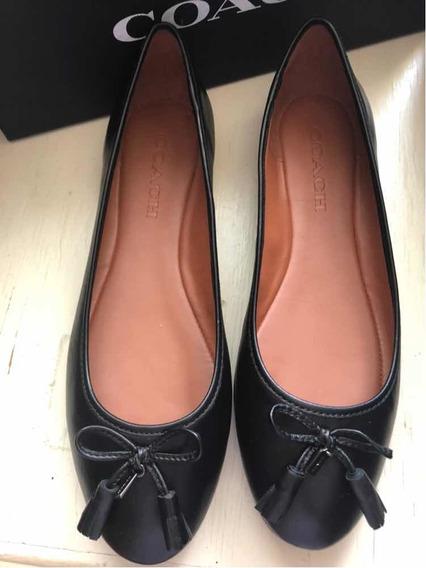Zapatos Flats Original Coach Piel 25.5 Mexicano 8.5 Ameri