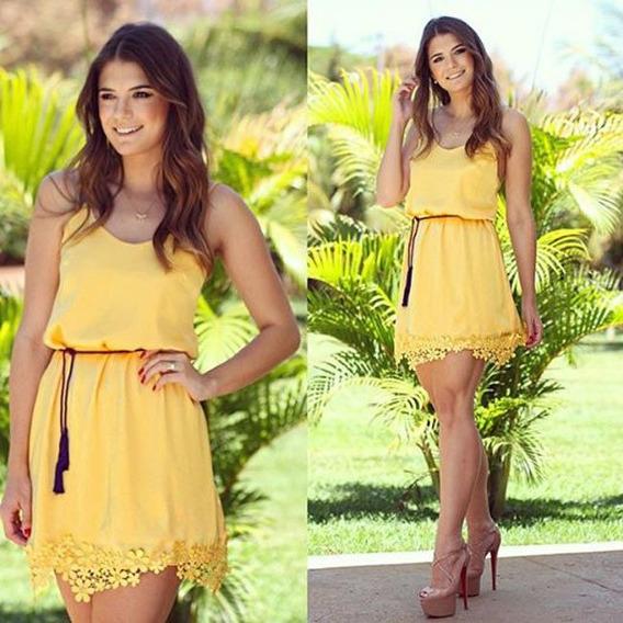 Vestido De Renda Tropical