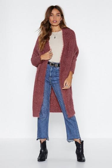 Cardigan (suéter) Largo Hasta La Rodilla Envío Gratis