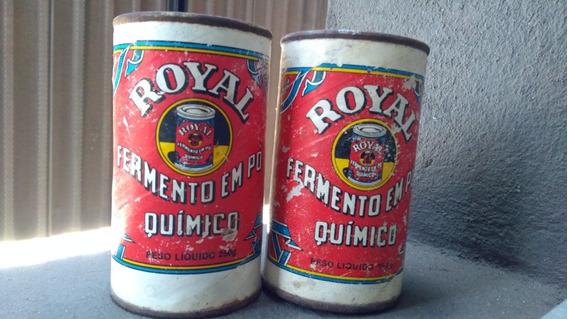 Latas Antigas De Fermento Po Royal 250g Vazias Vintage Kit