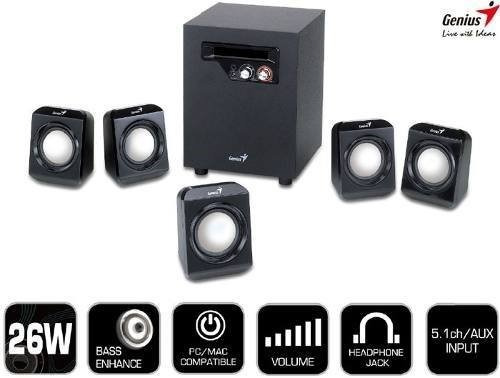 Subwoofer Genius Audio 5.1 Modelo N936sw Muy Conservado