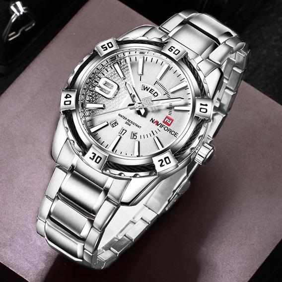 Relógio Masculino Luxo Naviforce Original Com Caixa