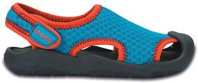 Zapato Crocs Niño Swiftwater Sandal K Azul/gris