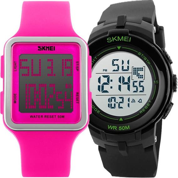 Kit Relógio Feminino E Masculino Skmei Barato Kit50535035