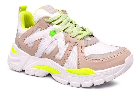 Tênis Chunky Sneaker Via Marte 19-12175 Marfim/grey/branco