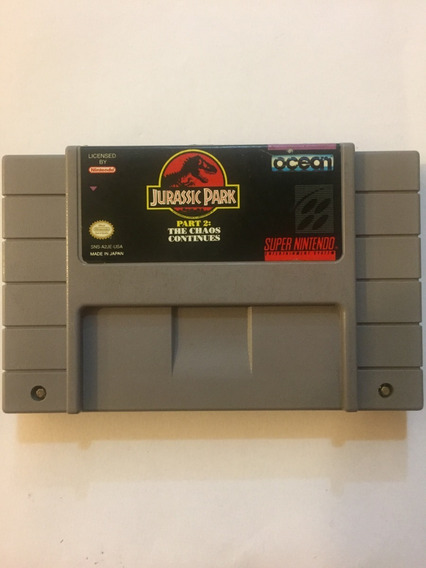 Jurassic Park The Chaos Contines Snes