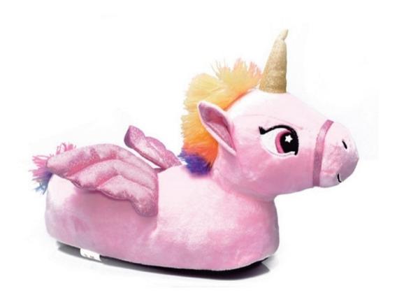 Pantuflas Unicornio Rosa Alas Mmk Unicor F