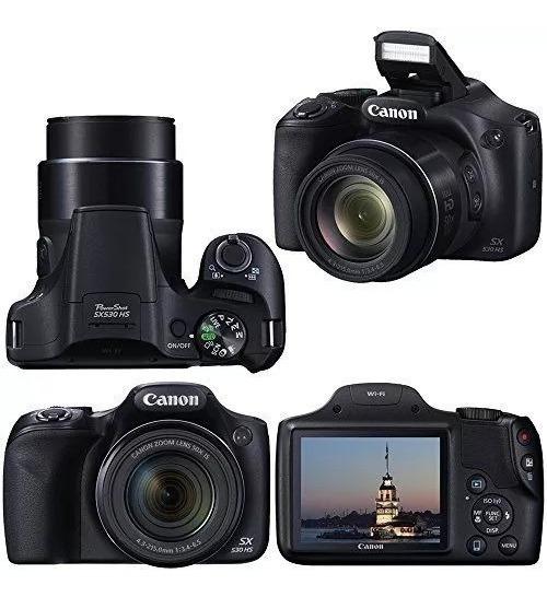 Câmera Canon Powershot Sx530 Hs Zoom 50x Wi-fi