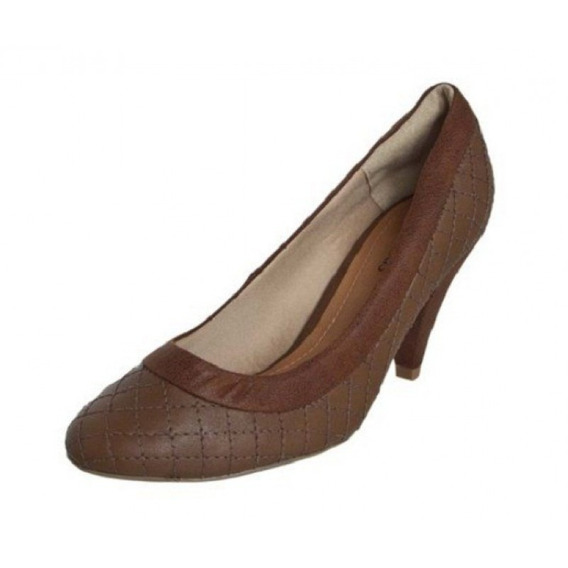 Sapato Feminino Salto Fino Baixo Crysalis 50612859 - Marrom