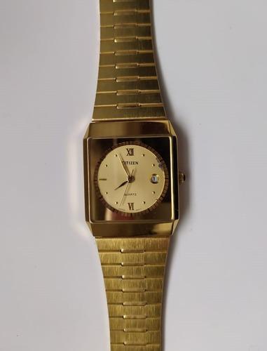 Relógio Citizen Dourado Original + Caixinha Case