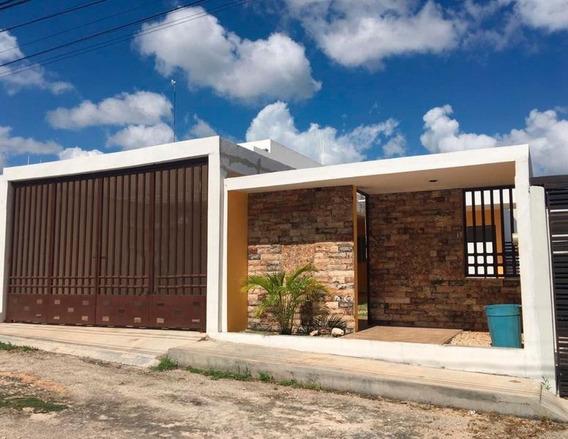 Casa De Un Piso En Conkal En La Entrada Al Pueblo 3 Recamaras