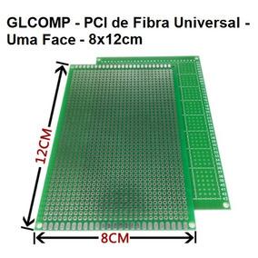 Placa Uma Face 04 Pçs Fibra Perfurada Arduino 8x12cm Carta
