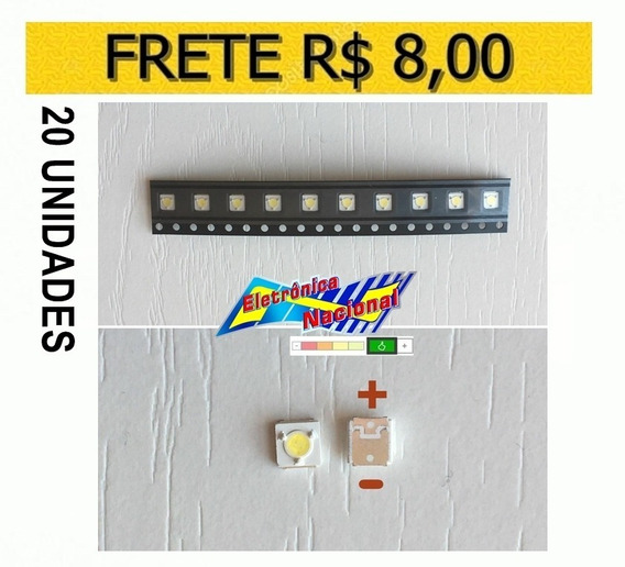 Led Smd Tv Samsung Original 3v 1w 3535 S. F Fh 20 Pçs Carta