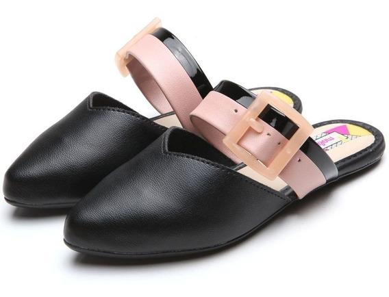 Sapato Sapatilha Infantil Menina Mule Bico Fino Molekinha