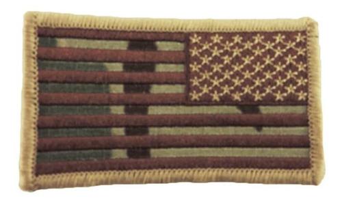 Imagen 1 de 5 de American Reverse Bandera Patch Con Gancho Y Bucle Back Multi