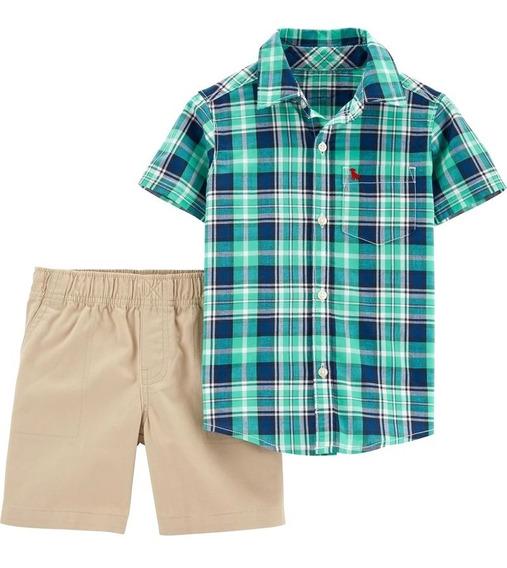 Conjunto Set Carters Short Y Camisa Niño Bebe Ropa Americana