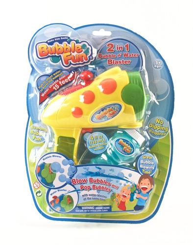 Burbujero 2 En 1 Lanza Agua Y Burbujas Bubble Fun Educando