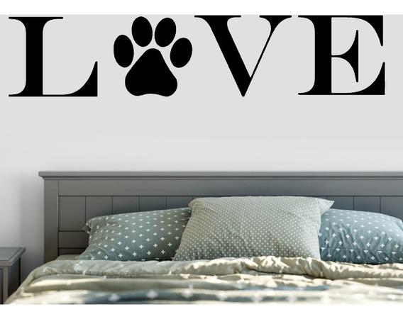 Adesivo De Parede - Love Cão Pet Gatos Felinos Dog 4 Patas