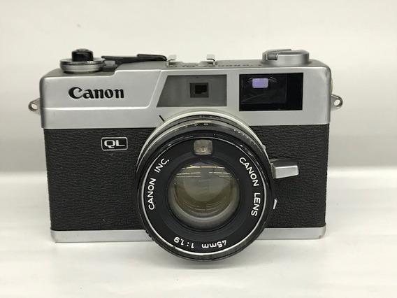 Câmera Canon Canonet Ql-19.(para Coleção).