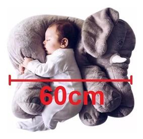 Almofada Travesseiro Elefante Pelúcia Bebê Dormir 60cm