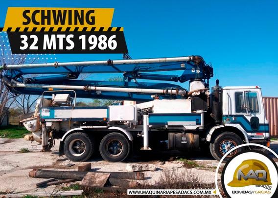 Mack - Bomba De Concreto Schwing 32 Mts 1986